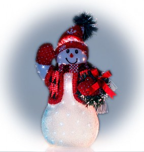 avon christmas decorations fiber optic snowman