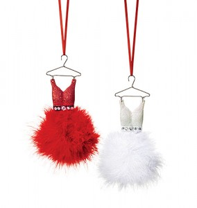 Avon Christmas Ornaments Dress ornaments
