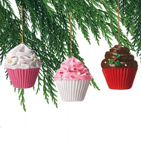 Avon Christmas Ornaments Sweet Treats Cupcakes Ornaments